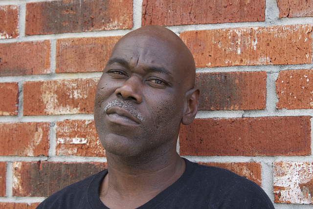 Julian Robinson, 43, of New Orleans, is currently unemployed ,but aspires to become a paralegal. Photo By Megan Jamerson